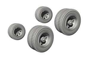 1/72 Biber Trailer Wheels for Special Armour kit  - 1