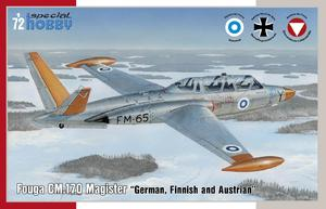 Fouga CM.170 Magister German, Finnish and Austrian 1/72  - 1
