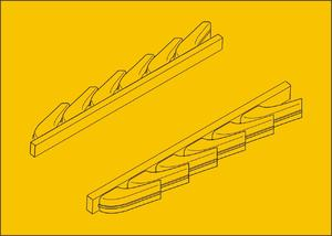 Bf 109G-6 – Exhausts for Airfix kit
