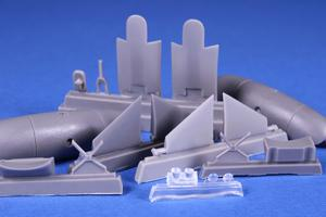 """Blenheim Mk. """"Finish AF 1.serie"""" 1/72 Fixed type Ski Undercarriage for Airfix  - 1"""