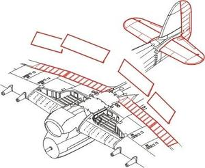 Hawker Typhoon Mk.I -control surfaces set for