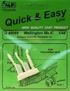 Wellington Mk.IC exhaust stubs for Trump
