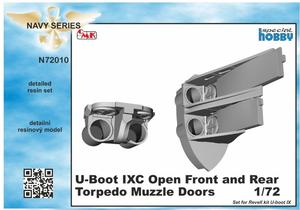 1/72 U-Boot IX Open Front and Rear Torpedo Muzzle Doors, for Revell kit  - 1
