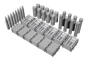1/72 U-Boot VII-IX Ammo and Food Supplies, for Revell kit  - 1
