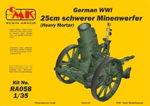 1/35 German WWI 25cm schwerer Minenwerfer / Heavy Mortar– All Resin kit   - 1