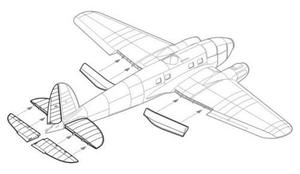 He 111H - control surfaces set for HAS