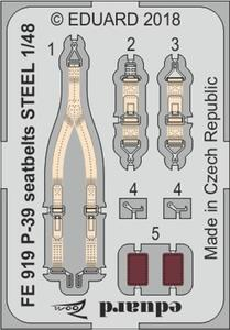 P-39 seatbelts STEEL  1/48