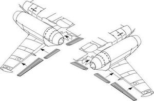 Messerschmitt M 262A/B wing flaps set for ACA