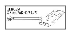 8,8 cm PaK 43/3 L/71 with early mantlet & mu