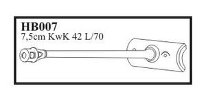 7,5 cm KwK 42 L/70 with early mantlet & muzz