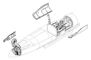 He 162A-2 - undercarriage set for REV