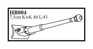 7,5 cm KwK 40 L/43 with mantlet & early muzz