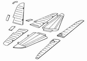 II - 2 m3 - control surfaces set for ACC
