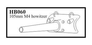 105 mm M 4 Howitzer with early mantlet. Gun