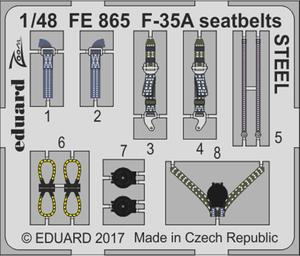 F-35A seatbelts STEEL 1/48