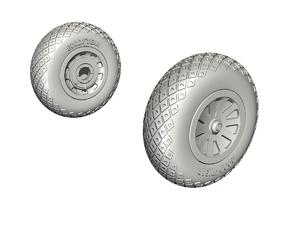 P-51D Mustang Wheels (Diamond and Hole Tread  - 1