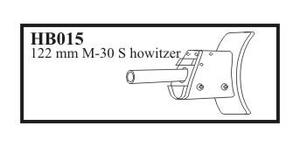 122 mm M - 30 S with mantlet Gun for SU - 1