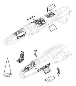 F-104 - detail set for HAS