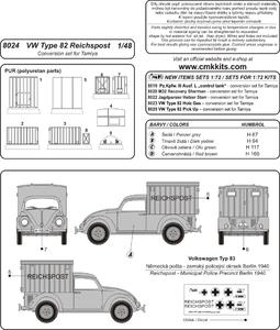 VW Type 82 Reich Post conv. Set for TAM  - 2