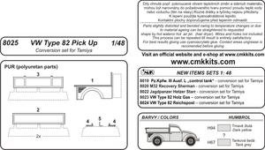 VW Type 82 pick Up conv.se for TAM  - 2
