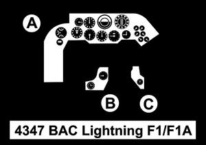 BAC Lightning F1/F1A – 1/48 Cockpit Set for Airfix/Eduard kit  - 2