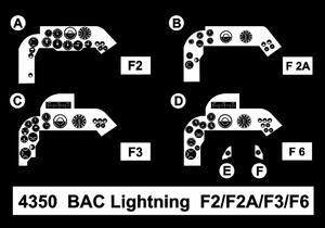 BAC Lightning F2/F2A/F3/F6 – Cockpit Set 1/48 for Eduard/Airfix kit  - 2