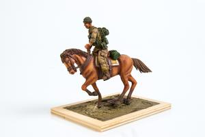 US mouted soldier in Afganistan 1 fig.+horse  - 2