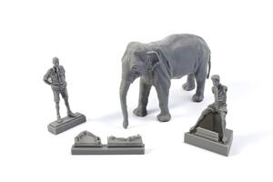 1/48 WWII RAF Mechanic in India+Elephant with Mahout (2 fig. + elephant)  - 2