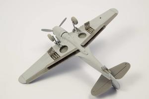 1/72 P-40 - Undercarriage Set (contains wheel well structure and canvas covers)  - 2