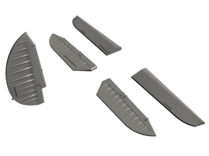 SB2C-4 Helldiver – 1/72 Control Surfaces Set for Academy   - 2