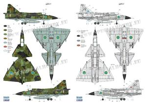 SAAB 37 Viggen Duo Pack & Book 1/72  - 2