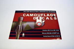 Camouflage and Decals Caudron CR.714; Morane Ms.406;Curtiss Hawk H75A 1/32  - 2