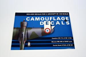 Camouflage and Decals Caudron CR.714; Morane Ms.406;Curtiss Hawk H75A 1/48  - 2