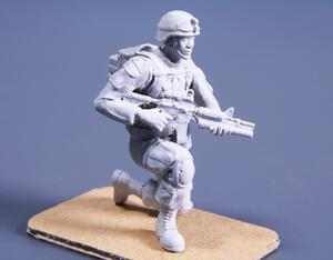 1/48 Kneeling Soldier (on left knee), US Army Infantry Squad 2nd Division (part 2)  - 2