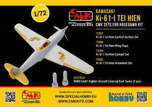 1/72 Ki-61-I Tei Hien Control Surface Set, for Hasegawa kit  - 2