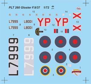 Gloster F.9/37 British Heavy Fighter Prototyp  - 2