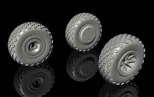 1/72 P-40 Wheels – Diamond and Hole Tread for Special Hobby  - 2
