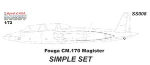 Fouga Magister Simple Set 1/72  - 2