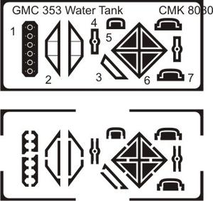 GMC 353 Water tank conv.set for TAM  - 3