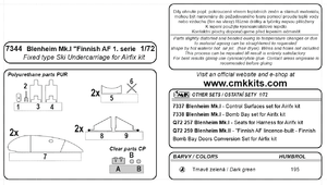 """Blenheim Mk. """"Finish AF 1.serie"""" 1/72 Fixed type Ski Undercarriage for Airfix  - 3"""