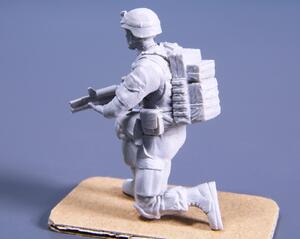 1/48 Kneeling Soldier (on left knee), US Army Infantry Squad 2nd Division (part 2)  - 3