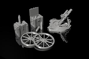 1/35 German WWI 7.58 cm Leichter minenwerfer n/A – all resin kit  - 3