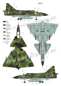 SAAB 37 Viggen Duo Pack & Book 1/72  - 3