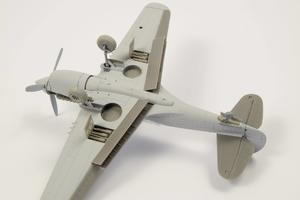 1/72 P-40 - Undercarriage Set (contains wheel well structure and canvas covers)  - 4