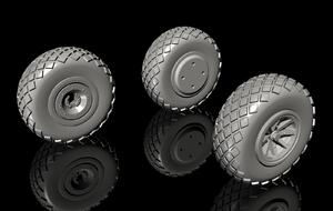 1/72 P-40 Wheels – Diamond Tread for Special Hobby kits  - 4