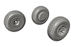 1/72 P-40 Wheels – Block Tread for Special Hobby kit  - 4