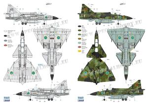 SAAB 37 Viggen Duo Pack & Book 1/72  - 5