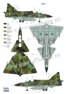 SAAB 37 Viggen Duo Pack & Book 1/72  - 6