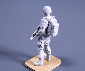 1/48 Commanding Officer (standing), US Army Infantry Squad 2nd Division  - 7