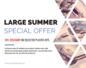 50% off- large summer special offer